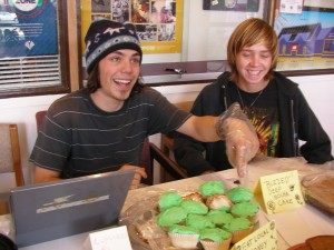 Max and Pace sell cupcakes with a smile!