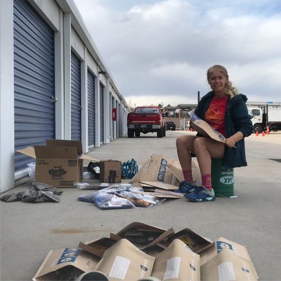 CAP Instructor Erin Assembles Thrival Kits